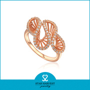 AAA CZ Golden Plating Ring Jewelry (SH-R0003)