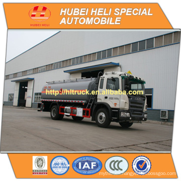 JAC 4X2 12000L oil tank truck with oil pump hot sale in China