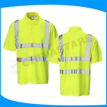 hot sale reflective tape t-shirt safety shirts for working, sporting, hiking
