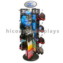Unique Flooring Sports Wear Golf Club Retail Display, Metal Floor Hanging Golf Club Golf Ball Display