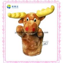 Lustige Plüsch-Rotwild-Marionette für Kinder