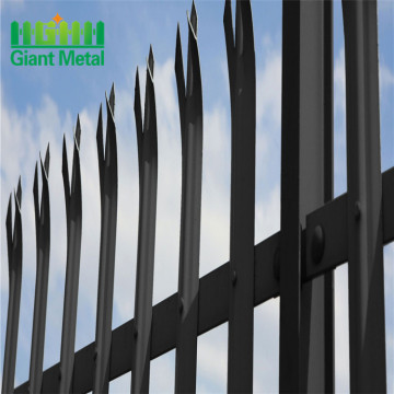 high security galvanized steel palisade fence gate