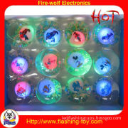 Oem, Odm 3 Led Glow Toys For Kids-color Kid Bounce Water / Jump Ball (tpu Rubber)