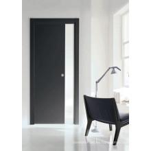 Puerta de madera de la melamina de Morden Design, puerta oscura del sitio de la oficina en el hogar, puerta de la decoración S7-M-1008