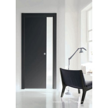 Porta de madeira da melamina do projeto de Morden, porta da sala do escritório domiciliário da cor escura, porta S7-M-1008 da decoração