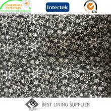 Schöner Schnee Muster Polyester Twill Print Futterstoff für Damen Jacke