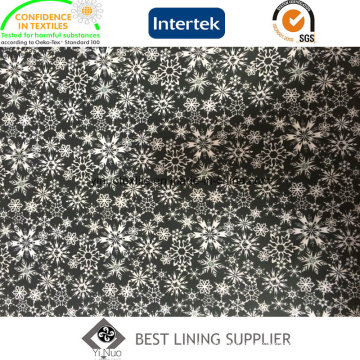 Beautiful Snow Pattern Polyester Twill Print Lining Fabric for Lady′s Jacket