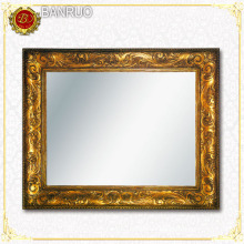 Antique Gold Leaf Frame Wall Mirror (PUJK09-F19)