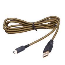 1.5M 24K Gold-Metall-Ladegerät Ladekabel Kabel Micro USB 2.0 Datenkabel für Nintendo NDSI / NDSIXL / 2DS / 3DS / NEU 3DS / 3DSXL