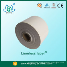 Peel off labels , Linerless label