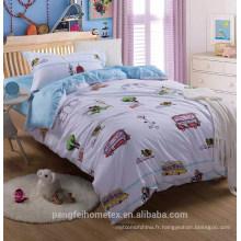 Tissu à microfibres brossé polyester polyester pigmenté à bas prix pour textile à la maison avec de beaux designs