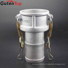 GutenTop bajo precio 304/316 SS / aluminio camlock acoplamiento rápido tipo c