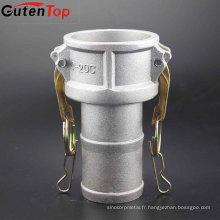 GutenTop Bas prix 304/316 SS / aluminium camlock raccord rapide Type c