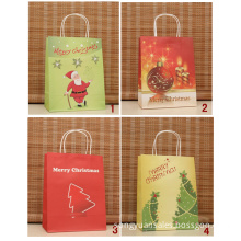 Recycled paper bag with warm printing