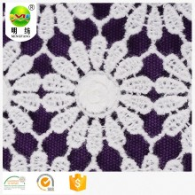 100 cotton dentelle embroidery lace fabric