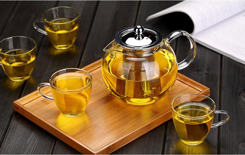 Heat-resistant Borosilicate glass teapot