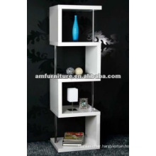 bestselling high gloss white MDF book shelf