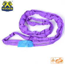 1T Purple Lifting Round SLing Cargo Zurrgurt