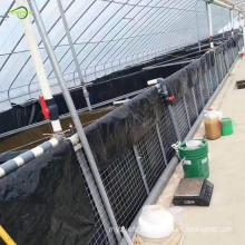 Blck fish farm pond geomembrane
