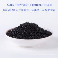 Produits chimiques de traitement de l'eau Utilisation adsorbant granulaire de charbon actif