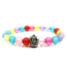 Colorful Crystal Bead Crown Bracelet For Women