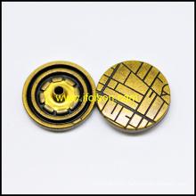 Snap botón con tiras para la capa