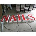 Letras de publicidade de alta qualidade à prova d'água LED acrílico carta publicidade sinal loja