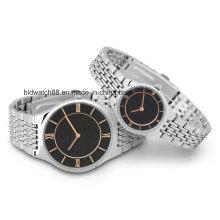 Relojes de pulsera personalizados de metal para hombres y damas