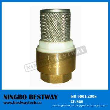 Válvula de retenção de bronze com filtro de aço inoxidável (BW-C09)