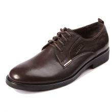 2015 novo padrão de couro de vaca genuína homens sapatos de vestido