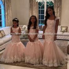 White ivory bloemenmeisjes jurk Children First Communion Dresses for Girls 2017 Mermaid Flower Girl Dress MF895
