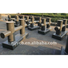 Double bollard for ship