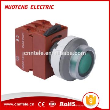 Micro-interrupteur à bouton-poussoir à led momentané de type tête plate de 37,5 mm led