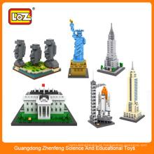 LOZ projeto arquitetônico bloco de blocos de brinquedos para adultos crianças