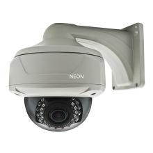 25m Ir Ip Network Cctv Camera , Ir Dome Ip Camera With Bracket