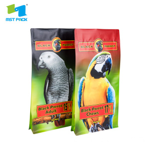 Plastik Flat Bottom Pet Food Bag