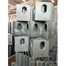 Steel Structure Bending Component Sheet Metal Bending Parts Galvanized Untreated Painted Finish