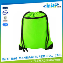 High quality promotion 100% drawstring bags with front zipper pockets