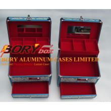 Высокое качество ABS путешествия портативный алюминиевый корпус макияж