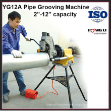 YG12A hydraulic electric stainless steel pipe grooving machine