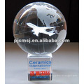 2015 Wholesale customized Laser Crystal World Globe engraving For Map Souvenirs & environmental protection awards