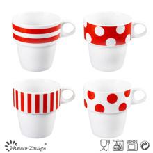 9oz Hot Selling Stale Porcelain Mug