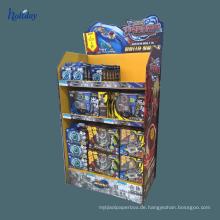 Wellpappe-Präsentationsständer der Werbungs-Recycling-Material-Pappausstellungszahnstange, Fruchtgemüseausstellungsständer