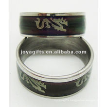 Fashion stainless steel mood ring,discoloration ring