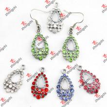 Rhinestone Teardrop Earings Set Jewelry Wholesale (E173)