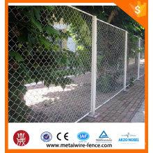 Redes de valla de enlace de cadena / Construcción temporal Cierre de cadena / Acoplamiento decorativo de malla de alambre de cadena
