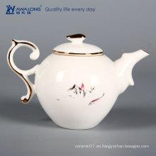 Jarras de té de cerámica baratas de la tetera de la porcelana para la venta