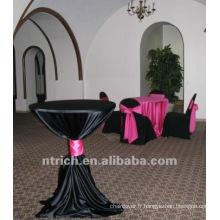 charmante nappe satin, housse de table pour banquet, mariage, hôtel