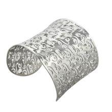 Hollow barba forma punk moda aço inoxidável declaração braceletes pulseiras mulheres mais recente design braceletes pulseiras jóias