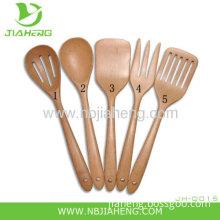 Paula Deen Signature Kitchen Tools Wooden 10 Inch Solid Spoon Set